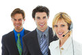 Happy young attractive business team Royalty Free Stock Photo