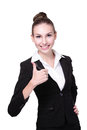 Happy young business woman Stock Photos