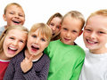 Happy young children and young child thinking Stock Image