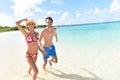 Happy young couple enjoying trip in tropics Royalty Free Stock Photo