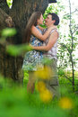 Happy Young Couple having fun Outdoor Stock Photos