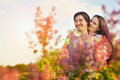 Happy Young Couple having fun Outdoor Stock Image