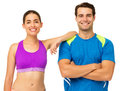 Happy Young Couple In Sports W...