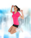 Happy young fitness woman Royalty Free Stock Photos