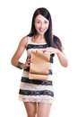 Happy young girl with packages in hands Royalty Free Stock Image