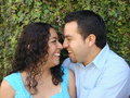 Happy, young Hispanic Couple in love Royalty Free Stock Images