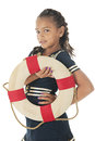 Happy Young Sailor Girl Royalty Free Stock Photo