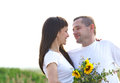 Happy young smiling couple Royalty Free Stock Images