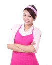Happy young woman housewife Royalty Free Stock Photo