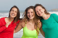 Happy youth group of at the beach Royalty Free Stock Image
