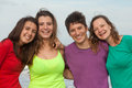 Happy youth group of at the beach Royalty Free Stock Photo