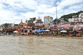 Har ki pauri ghat in haridwar is a famous on the banks of the ganges uttarakhand state india Royalty Free Stock Images