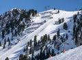 Harakiri ski piste in Mayrhofen, Austria Royalty Free Stock Photo
