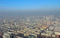 Harbin in smog china residential areas Stock Image