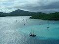 Harbor in the bahamas boats an ocean Royalty Free Stock Photo