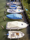 Harbor boats at a in italy Royalty Free Stock Photos