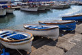 Harbor in capri italy this is the island of Royalty Free Stock Photography