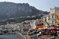 Harbor in capri italy this is the island of Royalty Free Stock Images