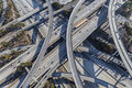Harbor and century freeway interchange in los angeles aerial south of downtown southern california Royalty Free Stock Image
