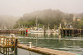 Harbor in fort bragg california a view of the along the noyo river Royalty Free Stock Image