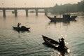 Harbor of Hoi An, Vietnam Royalty Free Stock Photo