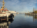 The harbor in kiel germany schleswig holstein Stock Images
