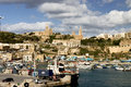 Harbor mgarr gozo malta harbour at Stock Images