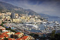 Harbor of monaco a view over the Royalty Free Stock Photo