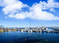 Harbor at monterey california bay the wharf on cannery row Royalty Free Stock Photography