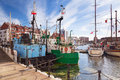 Harbor at motlawa river in gdansk old town of poland Stock Image
