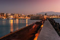 Harbor and Old Town of Heraklion, Crete, Greece Royalty Free Stock Photo