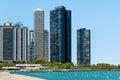 Harbor point condominiums chicago on lake michigan illinois united states Royalty Free Stock Image