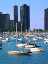 Harbor Point and Lake Michigan Royalty Free Stock Photo