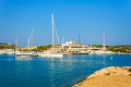 Harbor porto cervo sardinia in italy Royalty Free Stock Photo