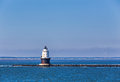 Harbor of refuge light lighthouse in delaware bay the at cape henlopen it was originally named west end Royalty Free Stock Photography