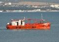 Harbor rescue boat Royalty Free Stock Photo