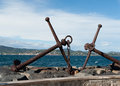Harbor saint tropez france anchor in Royalty Free Stock Photo