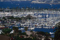 Harbor san diego marina on shelter island in Stock Image