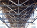 Harbour bridge underside of the sydney sydney australia Stock Image