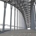 Harbour Bridge on white. 3D illustration