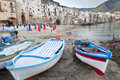 Harbour in Cefalu Stock Image