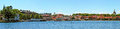 The harbour city of vaestervik panoramic view in sweden Stock Images