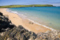 Harbour cove cornwall rocks and beach at near padstow in uk Stock Photography