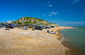 Harbour in Hastings, UK. Royalty Free Stock Photo