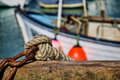 Harbour knots nautical and chains at the Stock Photography