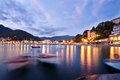 Harbour of little town in italy relaxing view levanto Stock Photos