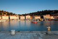 Harbour in piran at sunset slovenia europe view on Royalty Free Stock Images