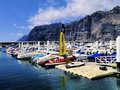 Harbour tenerife canary islands spain Stock Photos