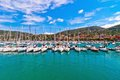 Harbour and town of lerici in summer italy june on june is located la spezia liguria is famous Stock Images