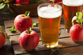 Hard apple cider ale ready to drink Stock Image